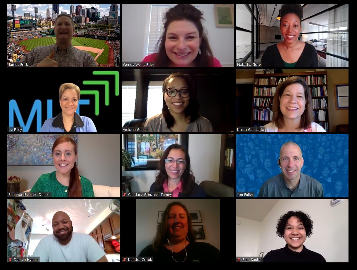 Screenshot of MLT Staff During Virtual MLT Event
