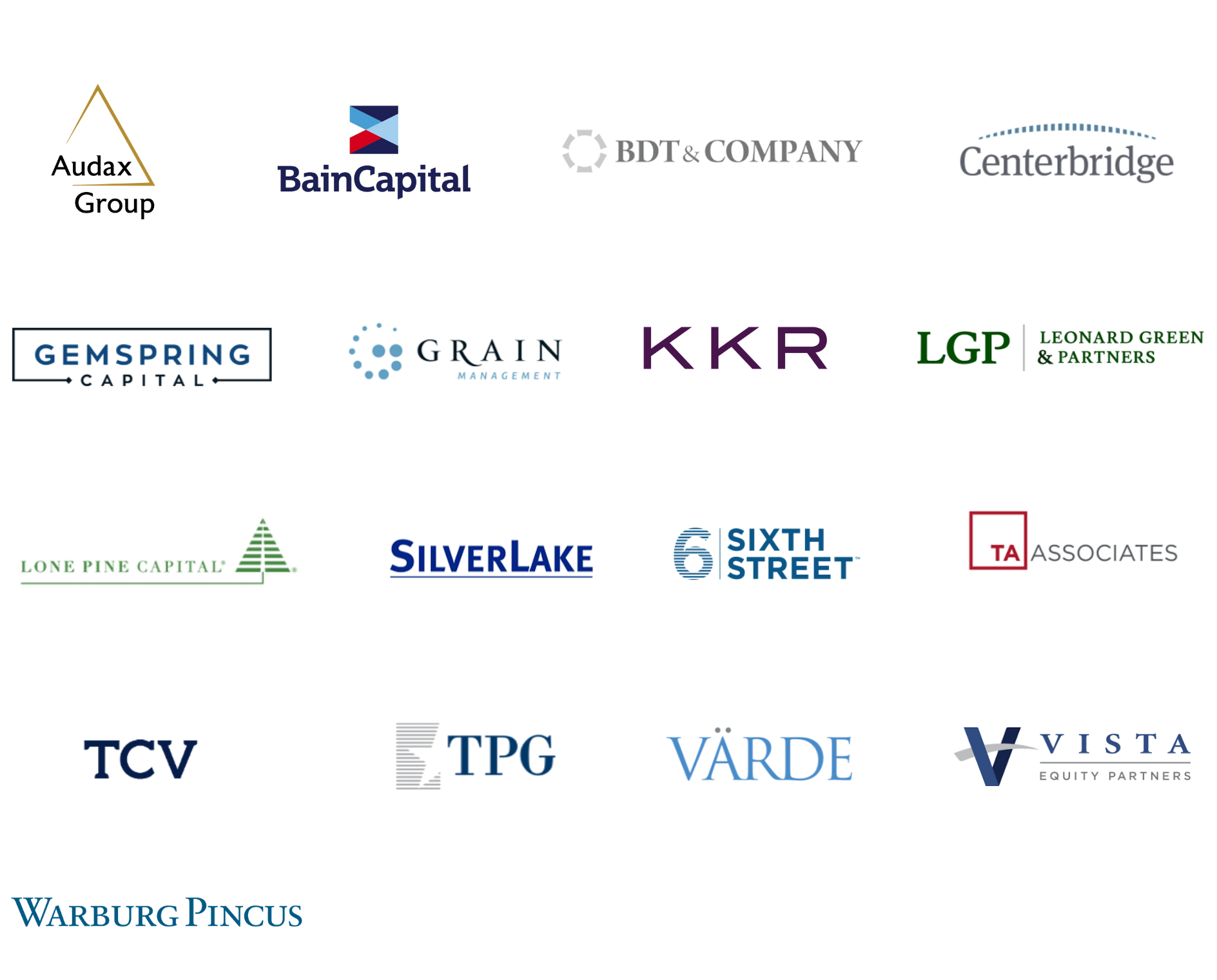 Private equity accelerator partner logos