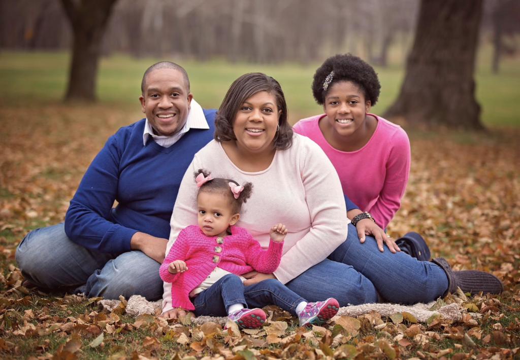 Family Matters: Tanesha Duncan posed with her family
